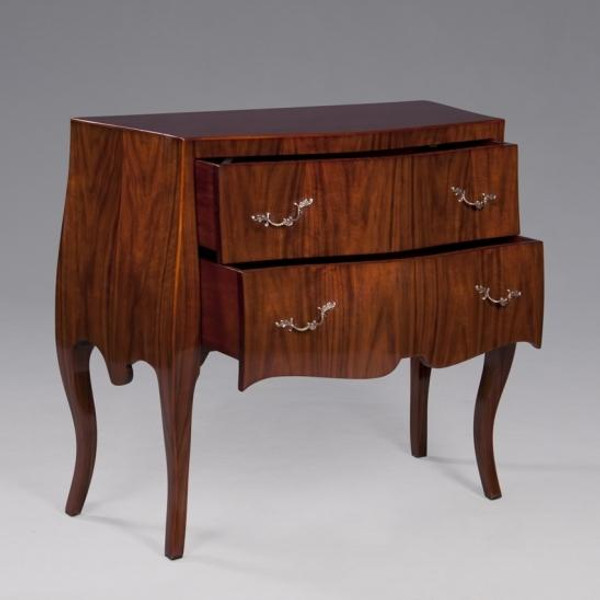 33851 Vintage Rectangular Sara Commode In Brown Finish