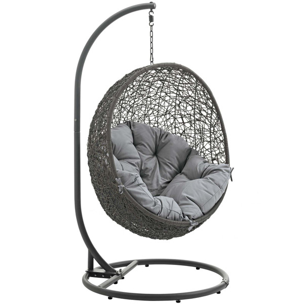 Modway Hide Outdoor Patio Swing Chair - Gray EEI-2273-GRY-GRY