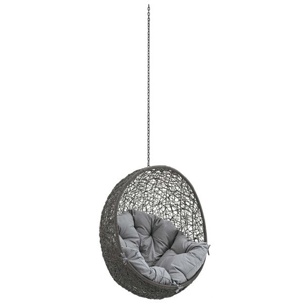 Modway Hide Outdoor Patio Swing Chair Without Stand-Gray EEI-2654-GRY-GRY