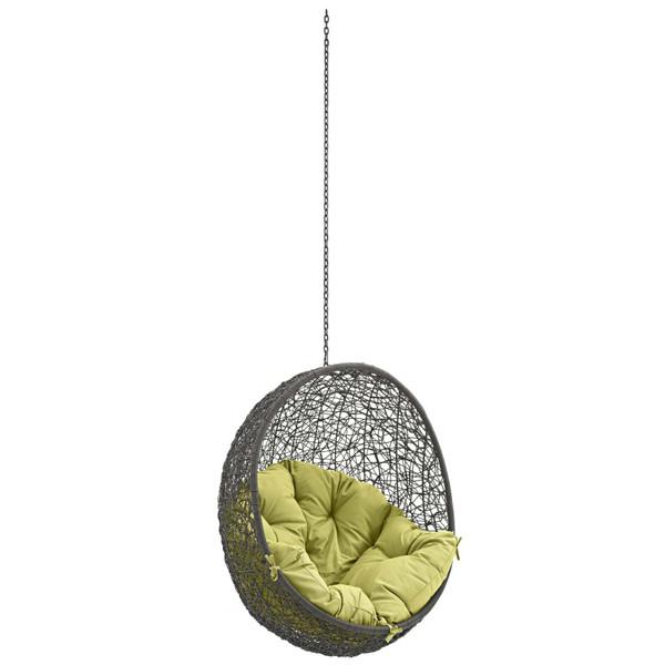 Modway Hide Outdoor Patio Swing Chair Without Stand-Gray/Peridot EEI-2654