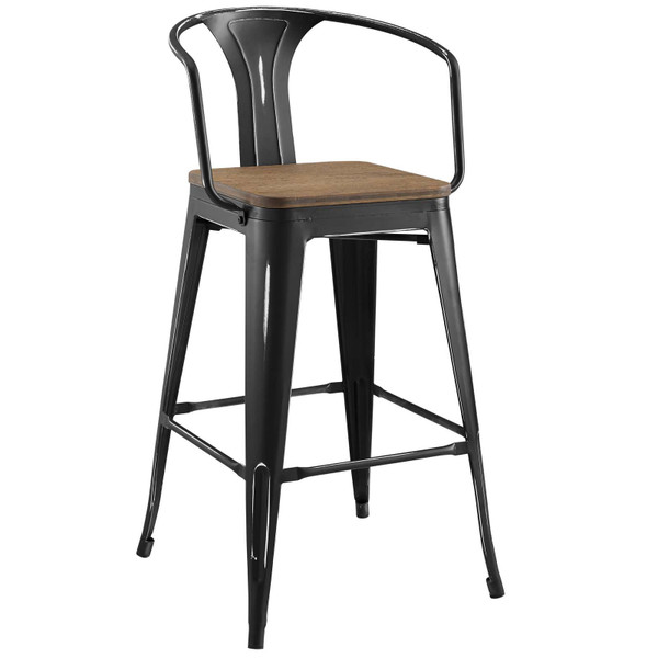 Modway Promenade Bar Stool - Black EEI-2818-BLK