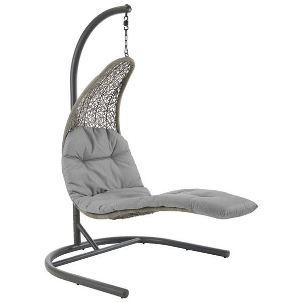 Best Modway Landscape Hanging Chaise Lounge Outdoor Patio Swing Chair
