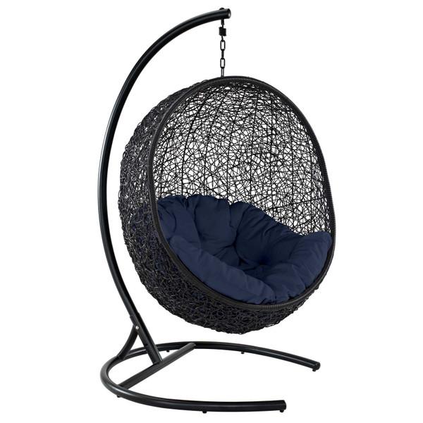 Modway Encase Swing Outdoor Patio Lounge Chair - Iron EEI-739-NAV-SET