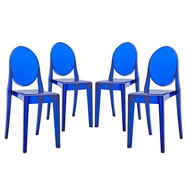 Modway Casper Dining Chairs Set Of 4 EEI-908-BLU