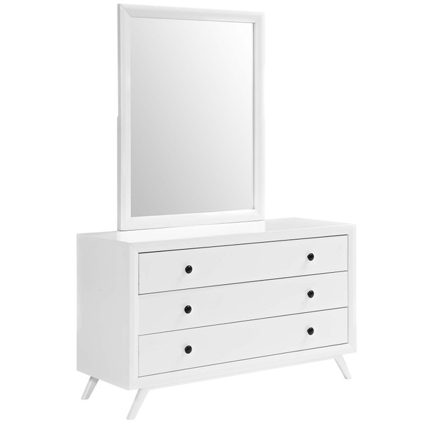 Modway Tracy Dresser and Mirror - White MOD-5310-WHI-SET