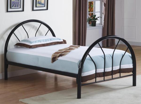 Monarch Twin Bed Size Black Metal Frame I 2389B