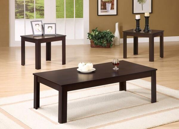 Monarch Table Set - 3 Piece Set - Cappuccino I 7842P