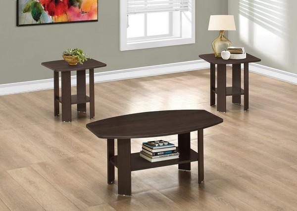 Monarch Table Set - 3 Piece Set Cappuccino I 7924P