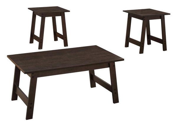 Monarch Table Set - 3 Piece Set - Cappuccino I 7930P