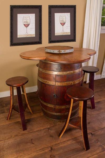 1001 Napa Wine Barrel Table Set Cabinet Base