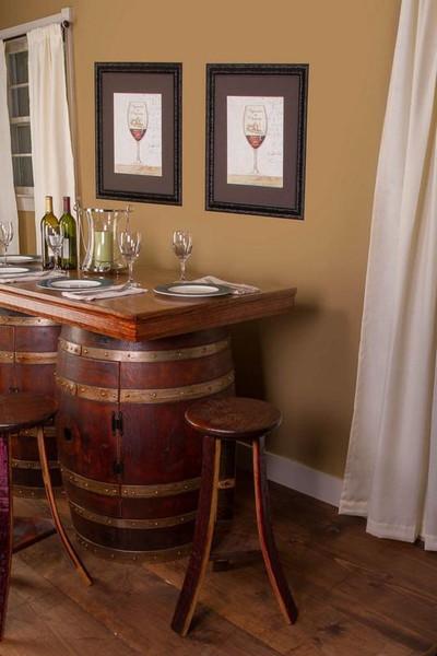 1003 Napa Wine Barrel Bar And Island Set