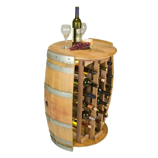 1012 Napa 28 Bottle Round Wine Rack