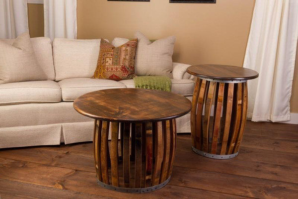 1039 Napa Stave And Hoop Coffee Table