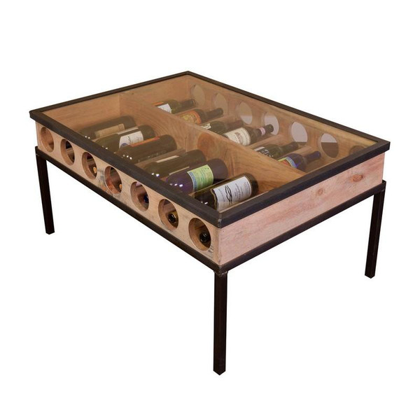 1050 Napa French Glass Top Coffee Table