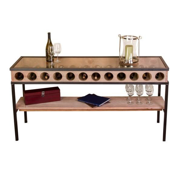 1057 Napa French Glass Top Console Table