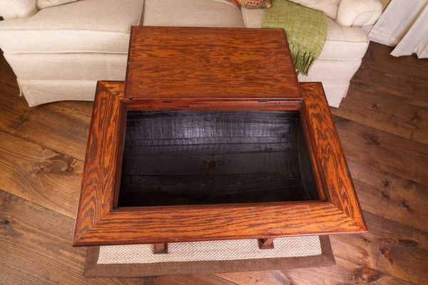 1064 Napa Wine Barrel Distressed Finish Coffee Table