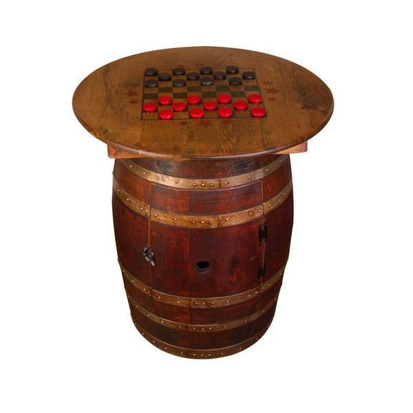 1087 Napa Whiskey Barrel Game Table