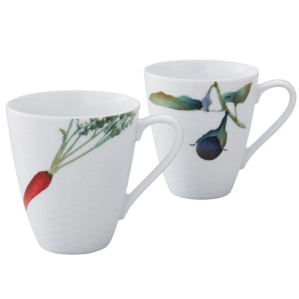 1620-P5355L 10 Ounces White Mugs Set of 2 by Noritake