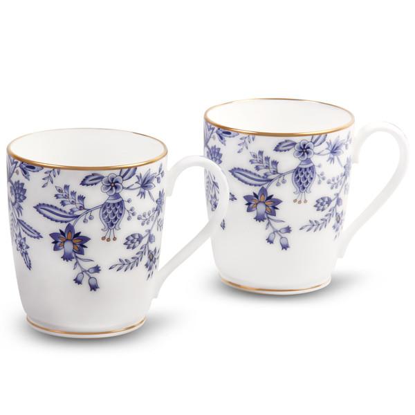 4562-P97280 10 Ounces Blue Mugs Set Of 2 by Noritake