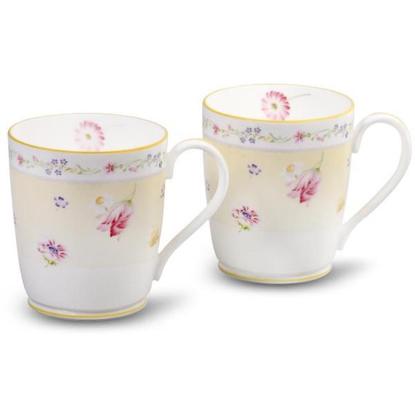 4620-P97280 10 Ounces Yellow Mugs Set Of 2 by Noritake