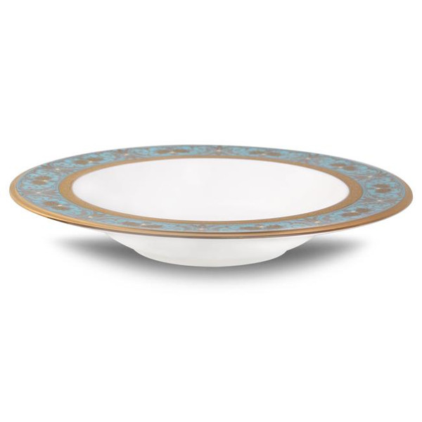 """4857-407 Turquoise Blue Accents 8.5"""" Soup Bowl by Noritake"""