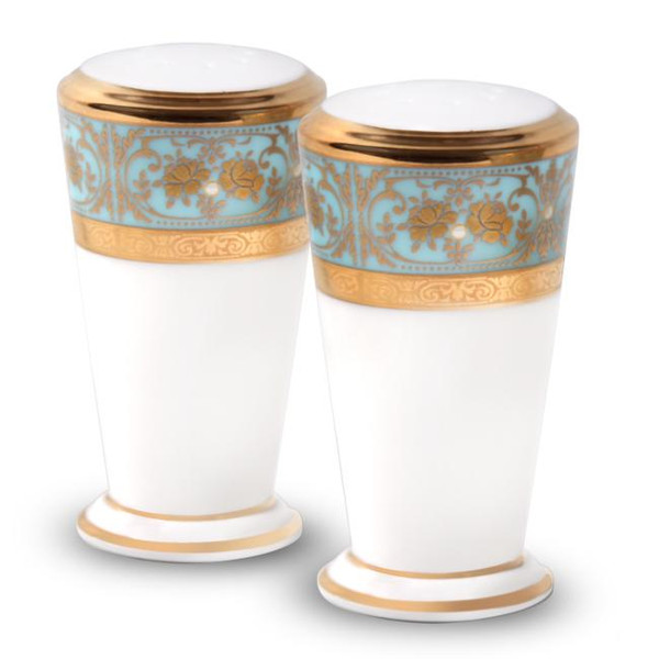 4857-434 Turquoise Blue Accents Salt And Pepper by Noritake