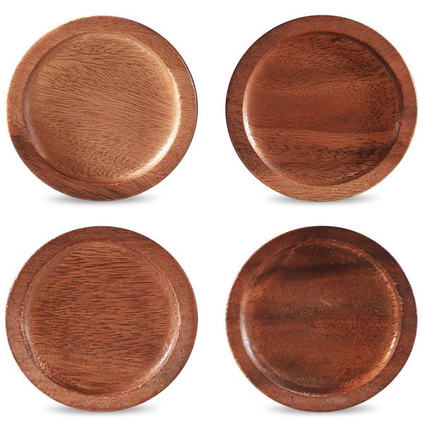 "W001-632D Wood 3.75"" Coasters Set Of 4 - (Pack of 5) by Noritake"