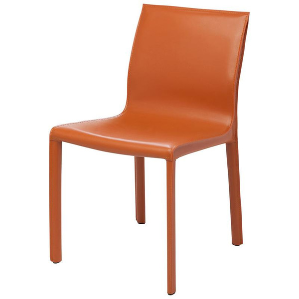 Nuevo Orchre Leather Colter Dining Chair HGAR265