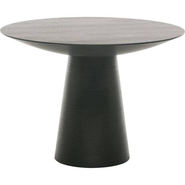 Nuevo Contemporary Black Oak Round Dania Dining Table HGEM254