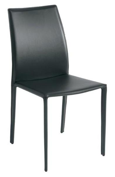 Nuevo Black Cs Leather Sienna Dining Chair HGGA283