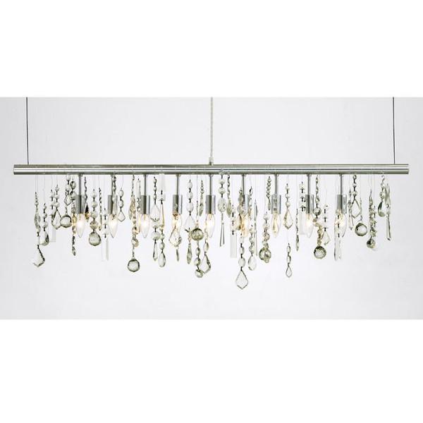 Nuevo Modern Chrome Metal Linear Pendant Lamp HGML158