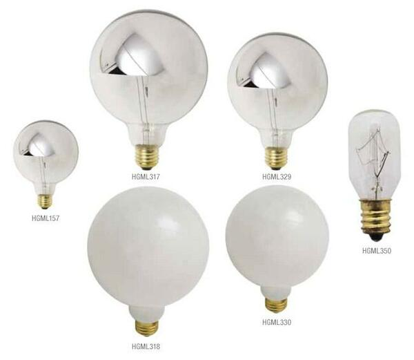 Nuevo 25 Watt Chrome Incandescent Light Bulb HGML317