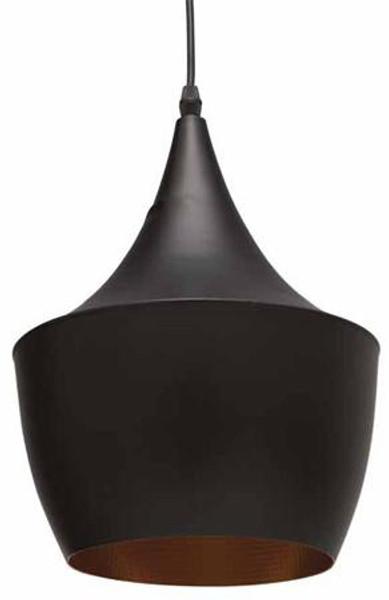 Nuevo Traditional Black Metal Karl Pendant Lamp Single Bulb HGML386