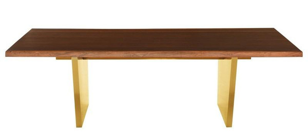 Nuevo Aiden Dining Table - Seared/Gold HGNA439