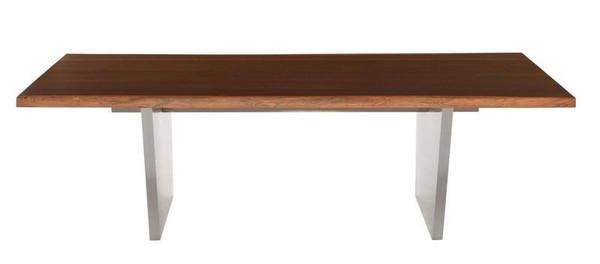 Nuevo Aiden Dining Table - Seared/Silver HGNA453