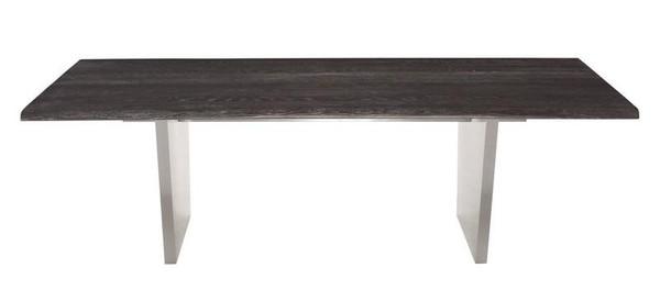 Nuevo Aiden Dining Table - Oxidized Grey/Silver HGNA456
