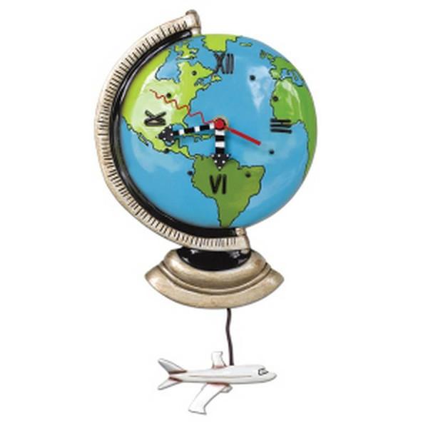 Allen Design Globe World Clock (Set Of 2) P1466