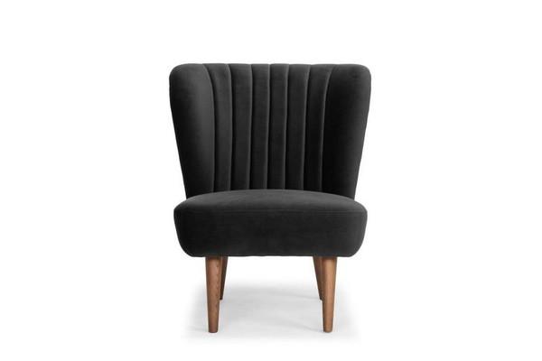 Nuevo Alicia Occasional Chair - Shadow Grey/Black HGSC312