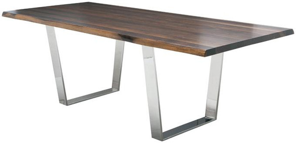 Gray Oxidized Oak High Polish 96in. Versailles Dining Table HGSR246