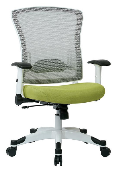 Office Star White Frame Managers Chair 317W-W1C1F2W-5879