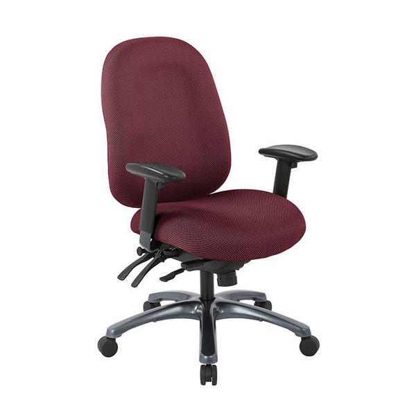 Office Star Multi-Function High Back Chair W/ Seat Slider In Diamond Wine 8511-298