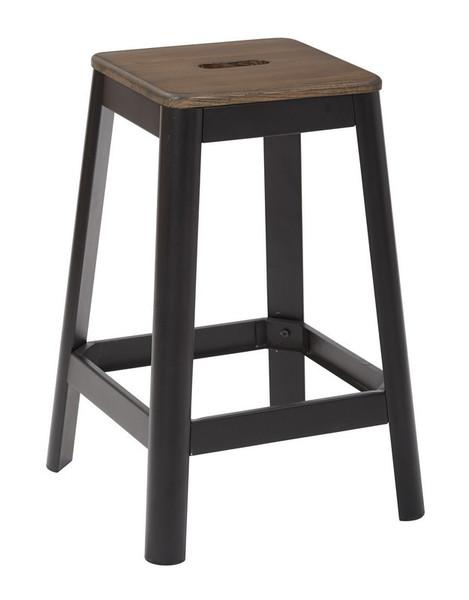 "Office Star Hammond 26"" Metal Barstool With Darkwood/Black Kd HMM9426D-C229"