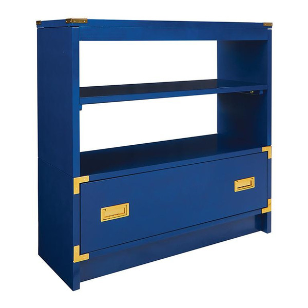 "Office Star Wellington 36"" Bookcase In Lapis Blue WEL14955-LP"