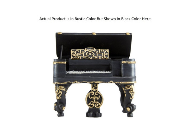 W8000-165B Oh! Trendy Classic Stand Up Piano Piggy Bank - Rustic