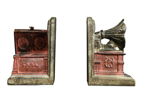 W8000-36 Oh! Trendy Vintage Phonograph Bookends