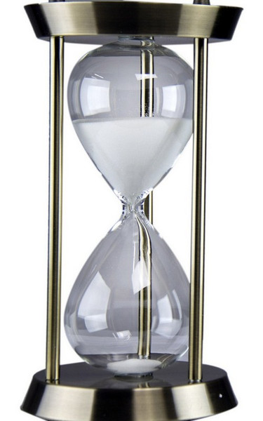 W8000-502 Oh! Trendy White Sand Hourglass - Large