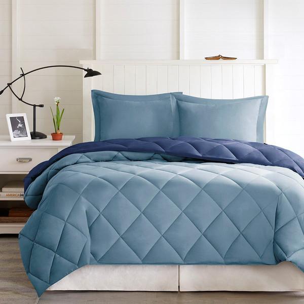 3M Scotchgard Diamond Quilting Comforter Set -Full/Queen BASI10-0199 By Olliix