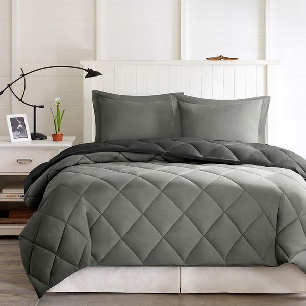 3M Scotchgard Diamond Quilting Comforter Set -Full/Queen BASI10-0202 By Olliix