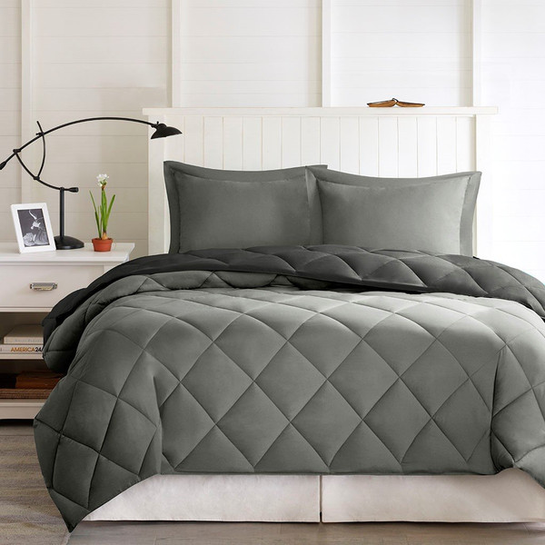 3M Scotchgard Diamond Quilting Comforter Set -King BASI10-0203 By Olliix