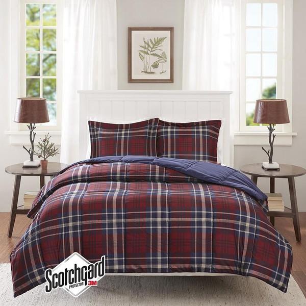 3M Scotchgard Down Alternative Comforter Mini Set -King/Cal King BASI10-0400 By Olliix